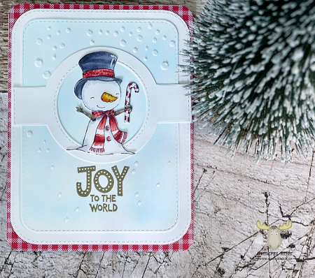 Sandra Bischoff - Snowflake Joy to the World Card
