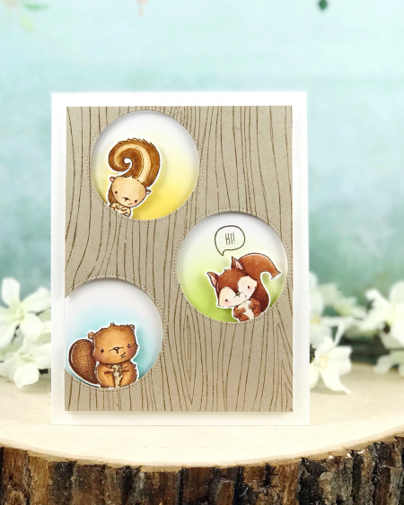 Amy Yang - Wood background with Chip  Timber  Peanut