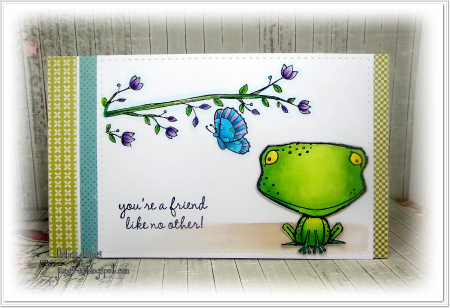 Debra James - Freckles Blossoming Perch Card