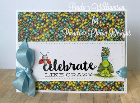 Paula Williamson - Petal Celebrate Like Crazy Card
