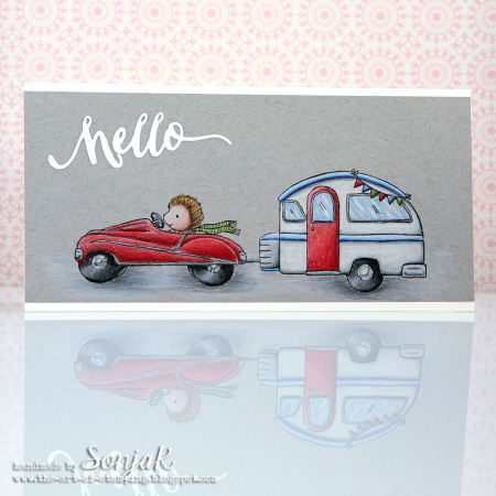 Sonja Kerkhoffs - Car Hello Card