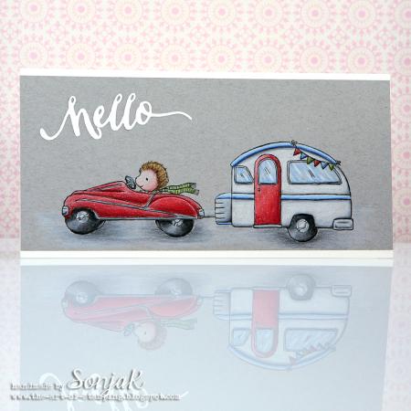 Sonja Kerkhoffs - Car Hello Card
