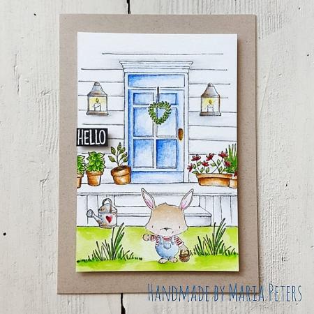 Maria Peters - Spring Front Door Card