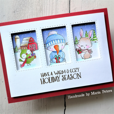 Maria Peters - Mabel Flurry Pepper Window Card