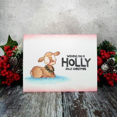 Rowena M-Bessie Holiday Marquee Christmas Card