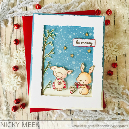 Nicola Meek - Curly and Pepper Card