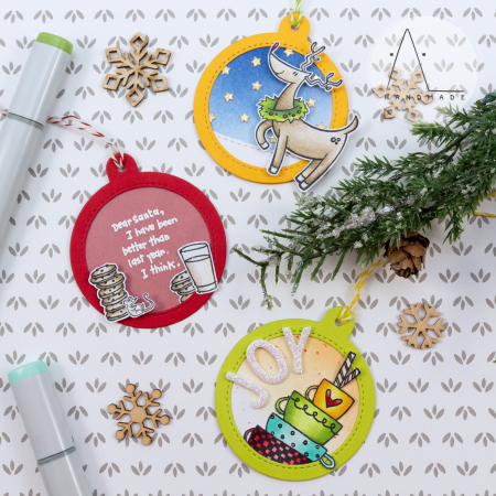 Anna lorenzetto - tags with dear santa danson decorating and cups of joy