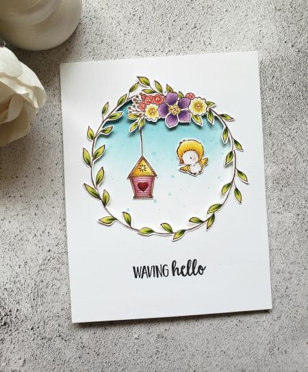 Rowena Miniaci - Floral Wreath and Grace Card