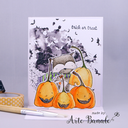 Agnieskska Danek-Wisniak - Ginger Happy Pumpkins Halloween Card - pop up card