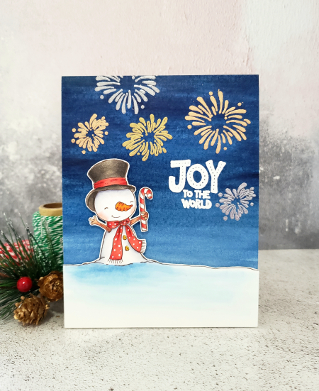 Rowena Miniaci - Snowflake Joy to the World Card