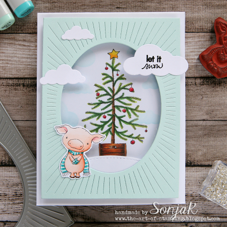 Sonja Kerkhoffs - Curly and OTannenbaum Let it Snow Card