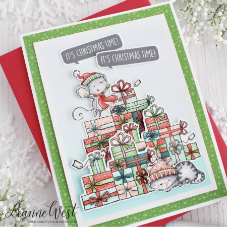 Leanne West - Maggie and Buttons Presents Its Christmas Time Card