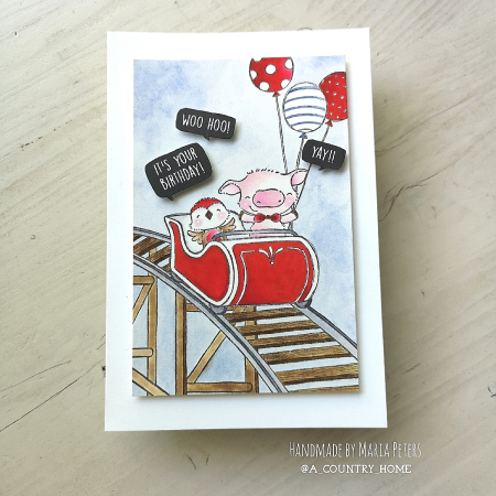 Maria Peters - Roller Coaster Card