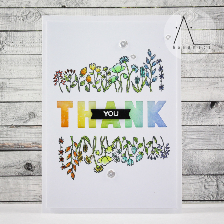 Anna Lorenzetto - Wildflower Thank You Card