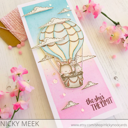 Nicola Meek - Up and Away Card
