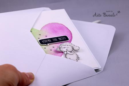 Agnieszka Danek-Wisniak - Wooley Heart Front Card in envelope