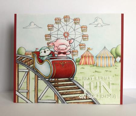 Kara Pogreba - Roller Coaster Fairgrounds - original