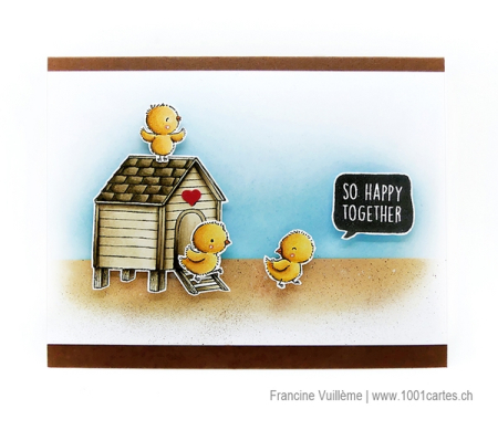 Francine Vuilleme - Hen House  Chicks and Everyday Blurb - Card