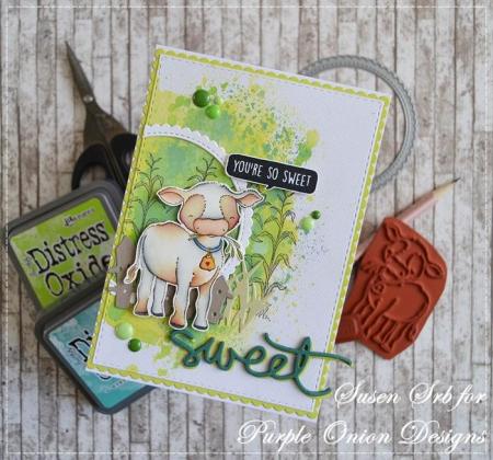 Susen Srb - Clarabelle Cornstalks Sweet Card