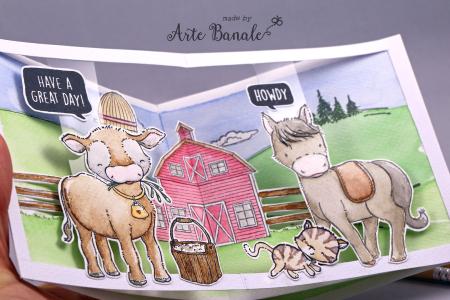Agnieszka Danek-Wisniak - Eloise and Chicks Tweet Card inside Misti Smokey Clarabelle Farm Card