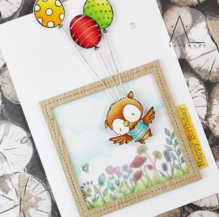Anna Lorenzetto Ruby Balloons and Wildflowers