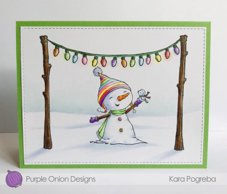 Kara Pogreba - Bianca and Neve Christmas Lights Card