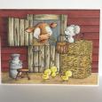 Kara Pogreba - SEPT Barn Door with Clarabelle Dotty and Chicks