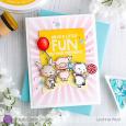 Leanne West - Carmel Pink and Billy Burst Fun Card