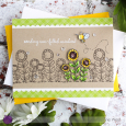 Leanne West - Sunflower and Bee Card