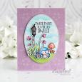Leanne West - Star and Sky Floral Corners Tweet Card