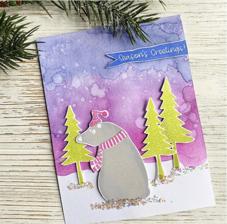 Jenn Shurkus - Toby Twin Trees Card