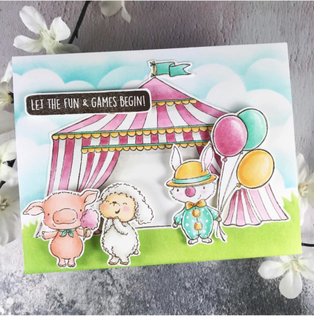 Amy Yang - Sunny Meadow Fair  Tent Card