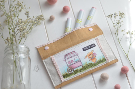 Martina Perfetti - Pink and Cotton Candy Cart Stamped Pouch2