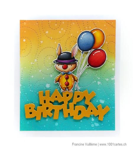 Francine Vuilleme - Clown Bunny - Card Francine 1