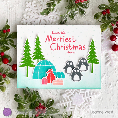 LeanneW_penguins_igloo_trees
