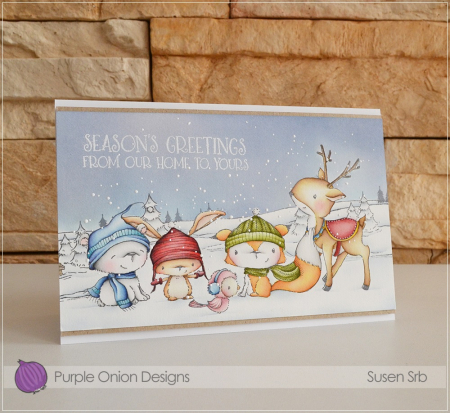 Susen Srb - Winter Wishes Critter Card