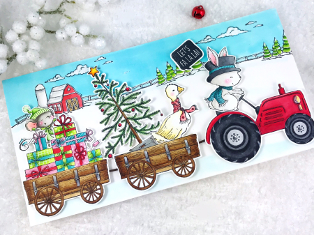 Amy - tractor farm wagon Ace Maggie Presents O' Tannenbaum Gertie