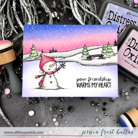 Jessica Frost-Ballas - Bianca and Neve Frozen Pond Card