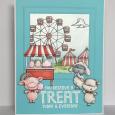 Kara Pogreba - Pinky Billy Cotton Candy Cart Treat Fairgrounds Card