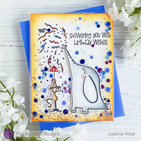 Leanne West - Elliot and Marcel Confetti Card