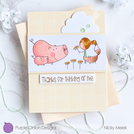 Nicky Meek - Lottie Flower Card