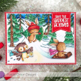 Cristina Boh - Winter Trail Happiest Holidays Card