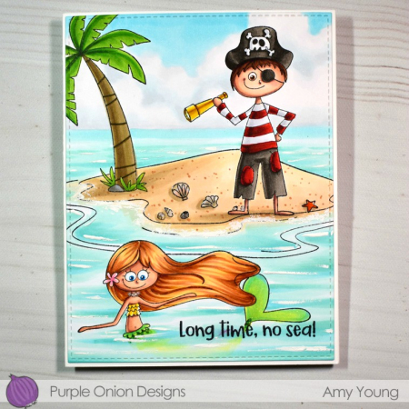 Amy Young - Mermaid Pirate and Tropical Island
