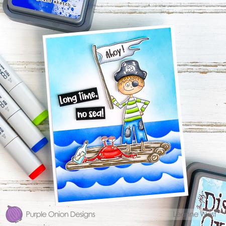 Leanne West - Pirate Raft Crab Card