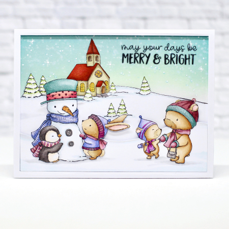 Janet Raffel - Sweet Snow Friends Card Miles and Beth Church Card