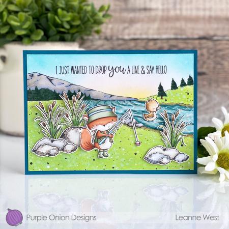 Leanne West - Fishing Card