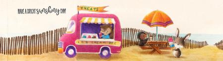 Sandy Allnock - Ice Cream Truck Beach Fencing Card
