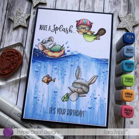 Sara Zoppi - Daphane Peony Ida Underwater Card - close up