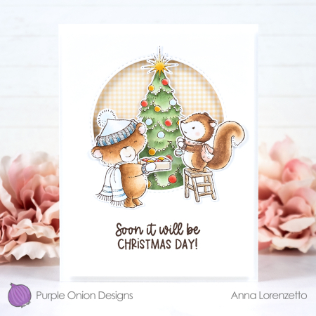 Anna lorenzetto - sweetest little town - chestnut and tinsel with sparkle and sweetest little town sentiment set - 2