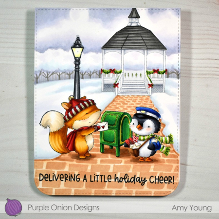 Amy Young - Woodstock Penguin and Gazebo Card